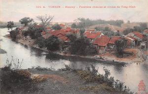 Tonkin Vietnam, Viet Nam Moncay, Frontiere chinoise et riviere de Tong Hinh T...