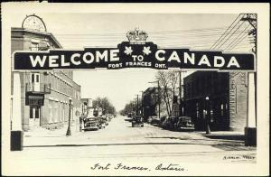 canada, FORT FRANCES, Ontario, Street Scene, Cars (1949) RPPC