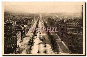 Paris - 8 - L & # 39Avenue the Champs Elysees to the & # Triumph 39Arc - Old ...