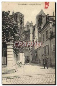 Postcard Old Bank of Bourges Street