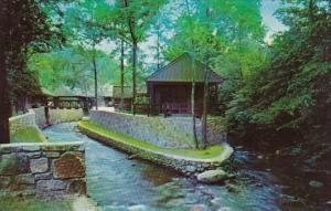 Tennessee Smoky Mountain Twin Islands Motel On The Little Pigeon River In The...
