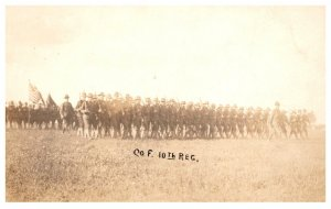 WW 1   Co. F 10th Regiment on parade
