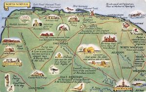 North Norfolk Fakenham East-Dereham, Norwich, King's Lynn, Map