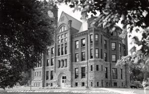 Fairfield Iowa~Jefferson County Court House~Clock Tower~Pick Up~1940s RPPC