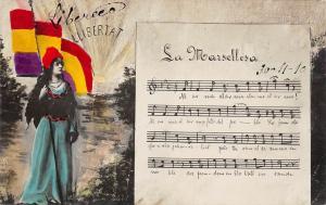 B95044 la marsellesa llibertat heraldic france music lirics  woman