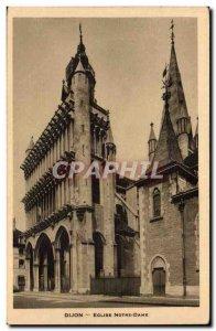 Dijon Old Postcard Notre Dame Church