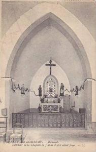 ENV. DE DOMREMY, Interieur de la Chapelle ou Jeanne d' Arc allait prior, Vosg...