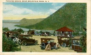 NY - Bear Mountain. Bear Mountain Park. Parking Lot, Old Cars