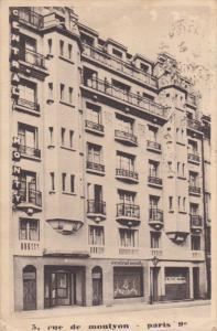 PARIS, France, PU-1937; Rue De Montyon, Central Monty