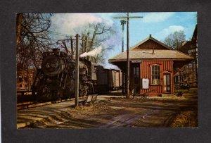 MA Boston and & Maine Railroad Train Station Wayland Mass Massachusetts Postcar