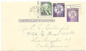US  Pre-stamped used Postcard UX46 Statue of Liberty