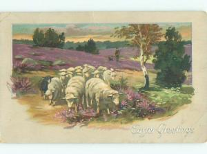 Divided-Back EASTER SCENE Great Postcard AA1261