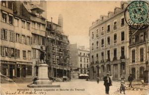 CPA RENNES - Statue Leperdit et Bourse du Travail (298246)