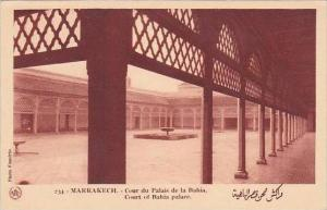 Morocco Marrakesh Court Of Bahia Palace 1920s-30s