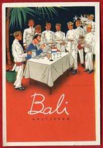 Netherlands Amsterdam Indisch Restaurant Bali old postcard