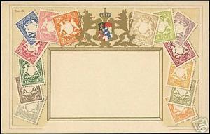 Germany Bavaria, STAMP Postcard, Coat of Arms (1910s)