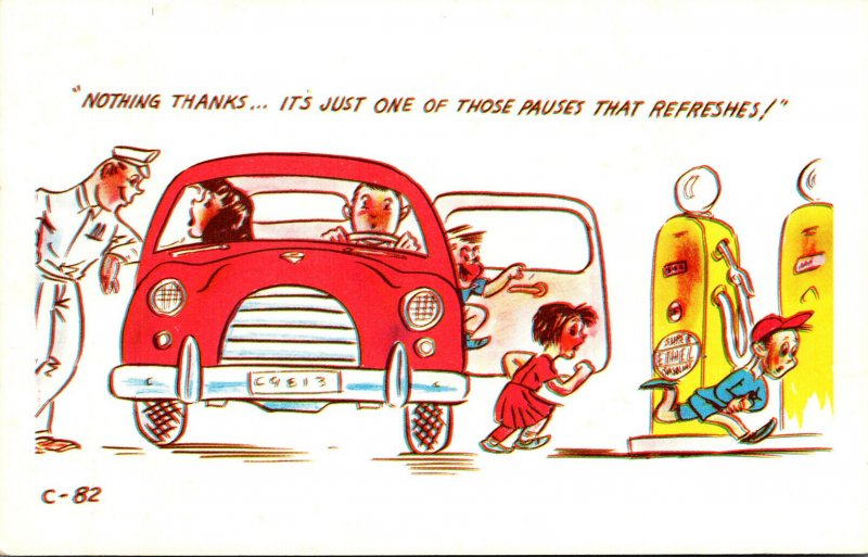 Humour Family At Service Station Nothing Thanks It's Just One Of Those P...