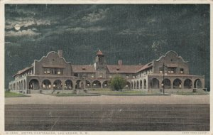 LAS VEGAS , New Mexico , 1919 : Hotel Castaneda at night ; Fred Harvey H-1854
