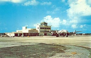 Aruba N. A. Princess Beatrix Airport Prop Airplane Postcard
