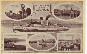LARGS , Scotland, PU-1946 ;  Steamer & 5 views