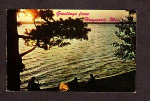 WI Greetings From Hayward Wisconsin Postcard Wis PC
