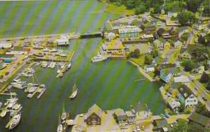 Maine Kennebunkport Aerial VIew Of The Waterfront