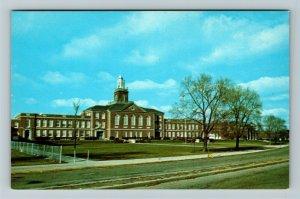 Richmond IN- Indiana, Richmond Senior High School, Chrome Postcard