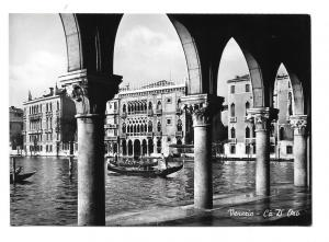 Italy Venice Ca d' Oro Golden House Gondola Vera Foto 4X6 Glossy Photo Postcard