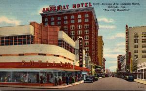 Florida Orlando Orange Avenue Looking South 1944 Curteich