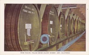 ASTI, California, 1910-1920s; Wine Vaults, Italian Swiss Colony Winery