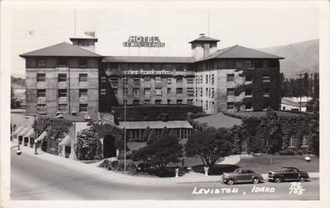 Idaho Lewiston Hotel Lewis Clark 1948 Photo