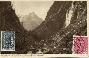 austria, BÖCKSTEIN, Nassfeld mit Schleierfall und Schareck (1924) Stamps
