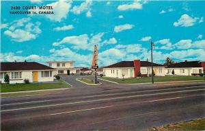 Vancouver BC~2400 Kingsway Court Motel Bungalows 1960s Postcard