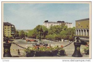 Sweden - Goteborg Gotaplatsen med Stadsteatern och Park Ave Hotel 60's