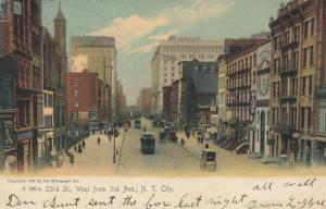 NEW YORK CITY, New York, 1909; 23rd St., West from 3rd Ave.