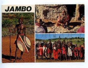 221871 KENYA Jambo Samburu native peoples Old photo RPPC