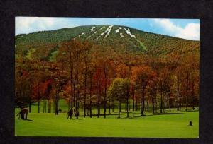 VT Stratton MT Mountain Country Club Golf Course Vermont Postcard Golfing Skiing
