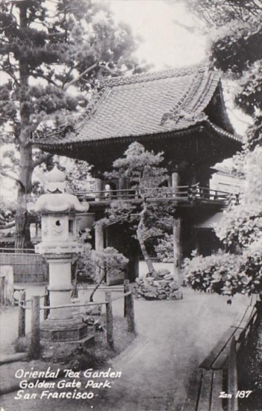 California San Francisco Oriental Tea Garden Golden Gate Park 1947 Real Photo