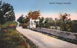 Quaint Cottage, Bermuda, early hand colored postcard, unused