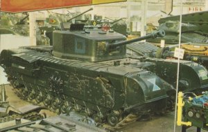 Churchill 7 Tank Bovington Military Museum 1970s Mint Postcard