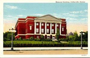Kansas Coffeyville Memorial Building Curteich