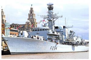 Postcard Royal Navy HMS Iron Duke Liverpool Docks, Armed Forces Day 2017 #548