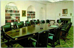 Washington DC Postcard WHITE HOUSE Cabinet Room Interior View c1970s Unused