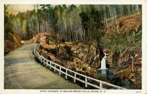 NH - Keene. Beaver Brook Falls and State Highway