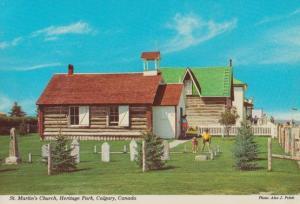 St Martins Church Heritage Park Calgary Postcard
