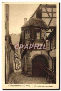Old Postcard Kaysersberg Haut Rhin The oldest house