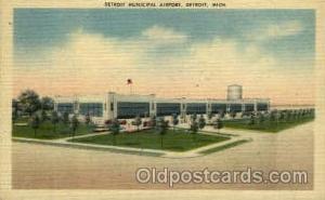 Detroit Municipal Airport, Detroit, MI USA Airport, Airports Post Card, Post ...
