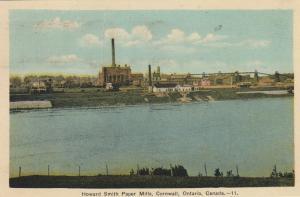 CORNWALL , Ontario , Canada , 1942 ; Howard Smith Paper Mills
