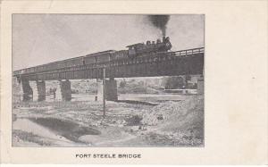 Fort STeele Bridge With Train Wyoming
