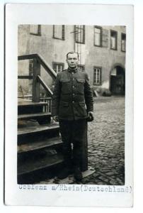Germany Coblenz a/Rhein Military RPPC Postcard